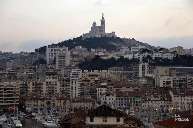 La basilique Notre-Dame de la Garde, à Marseille.... (Photo Gerard Julien, AFP)