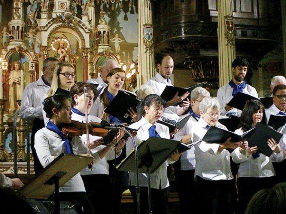 Le concert qui a récemment réuni le Choeur du Moulin, la Chorale Alta Vista et... (Photo de courtoisie)