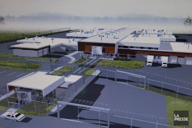 Malgré un léger ralentissement des activités, la construction du Centre... (Photo courtoisie)