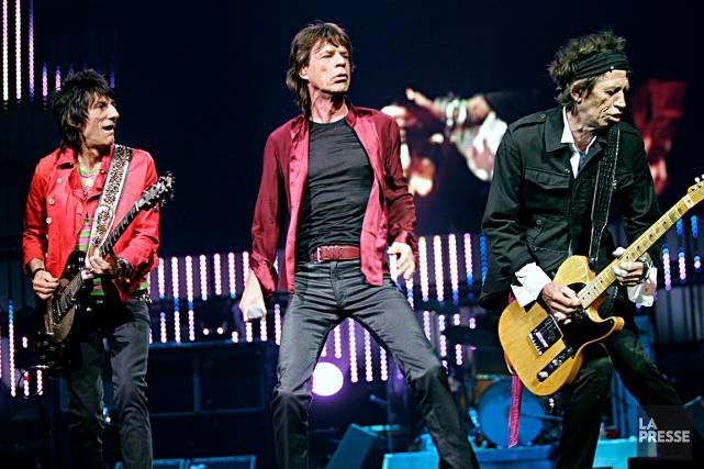 Le seul passage de Ron Wood, Mick Jagger... (Photohèque Le Soleil)