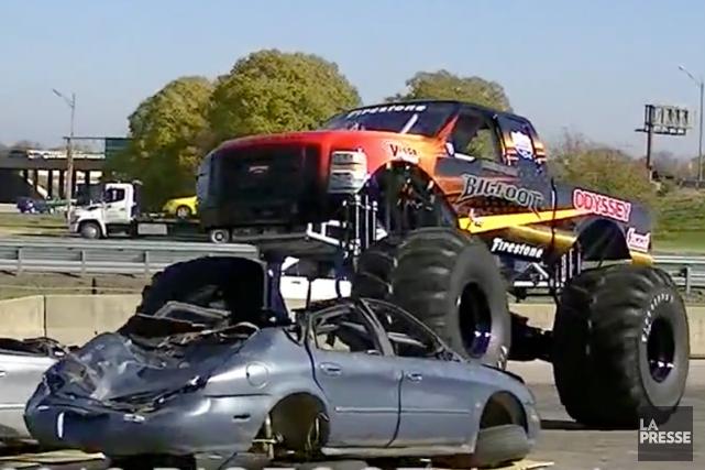 Bigfoot, le pick-up aux grosses roues qui fait la joie des spectateurs lors des...