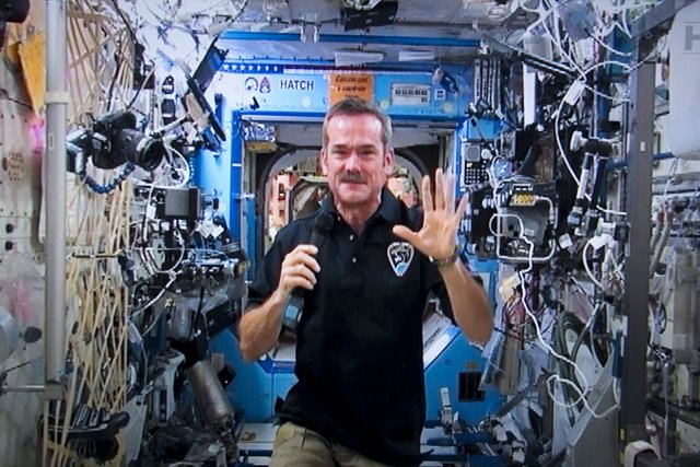 L'astronaute canadien Chris Hadfield.... (Photo La Presse Canadienne)