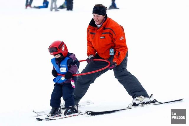 Alexandra Poulin, monitrice au centre de ski Le... (Photo Le Soleil, Yan Doublet)