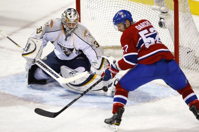 Pekka Rinne est au sommet de son art... (Photo: archives PC)