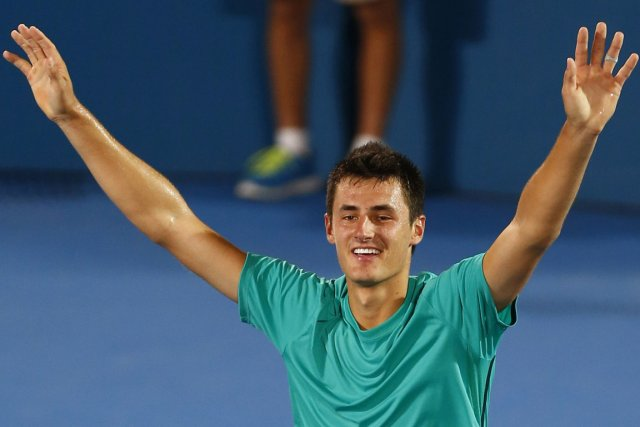Bernard Tomic a remporté son  premier titre... (Photo : Daniel Munoz, Reuters)