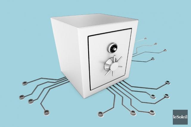 Surnommé «coffre-fort virtuel», le système eBeeOffice conçu par... (Infographie Le Soleil)