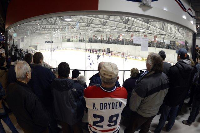 Les partisans du Canadien étaient nombreux hier au... (Photo: Bernard Brault, La Presse)