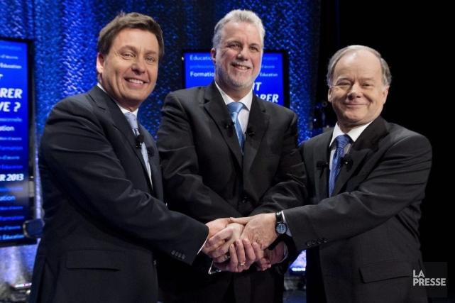Pierre Moreau, Philippe Couillard et Raymond Bachand, tous... (Graham Hughes)