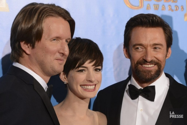 Les acteurs Eddie Redmayne, Anne Hathaway et Hugh... (ROBYN BECK)
