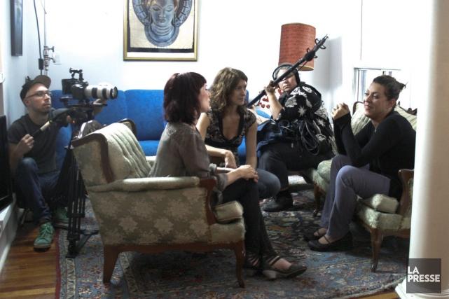 Geneviève Rioux et Marie-Pascale Laurencelle lors d'une entrevue... (Photo archives La Presse)