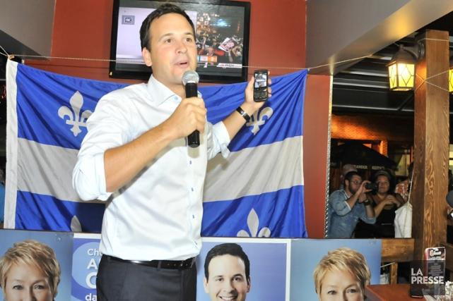Alexandre Cloutier, le ministre des Affaires intergouvernementales, lors... (Photo: Le Quotidien)