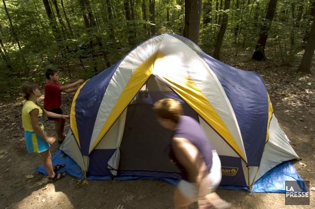 La saison du camping est déjà commencée pour certains, et les magasins de plein... (Photo: Patrick Sansfaçon, archives La Presse)