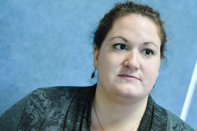 Catherine Gendron, du Mouvement Action Chômage de Trois-Rivières.... (Photo: Émilie O'Connor)