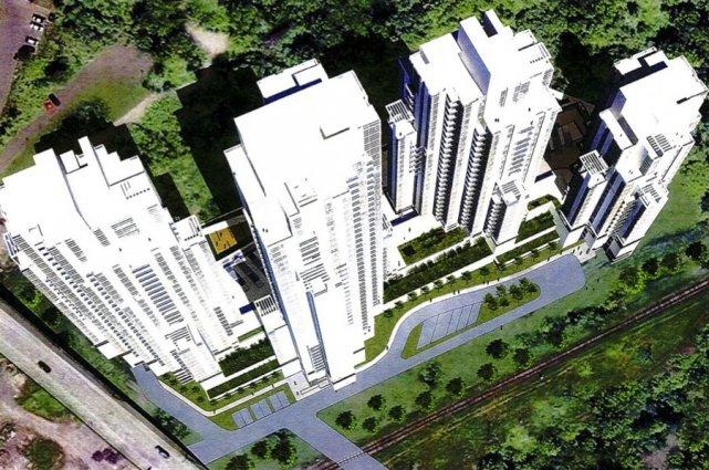 Le projet de tours du promoteur immobilier Pierre... (Image tirée du mémoire déposé à la Ville de Québec)