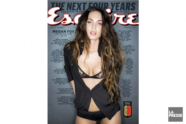 Megan Fox sur la page couverture du magazine... (Photo: AP)