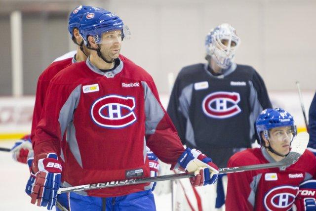 Erik Cole lors de l'entraînement de mardi à... (Photo: Alain Roberge, La Presse)