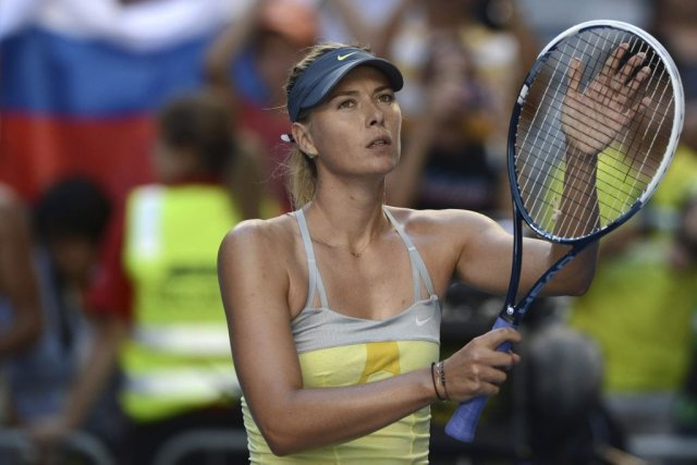 Maria Sharapova... (Photo Manan Vatsyayana, Agence France-Presse)