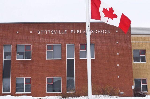L'école publique de Stittsville est restée ouverte, mardi.... (Patrick Woodbury, LeDroit)
