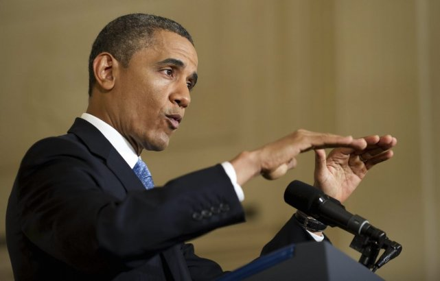 Le président Obama estime que le plafond de... (PHOTO: JIM WATSON, AFP)