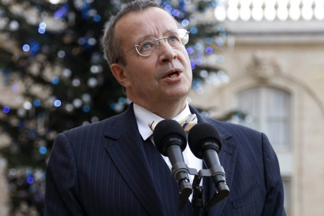 Le président estonien Toomas Hendrik Ilves... (Photo: AFP)