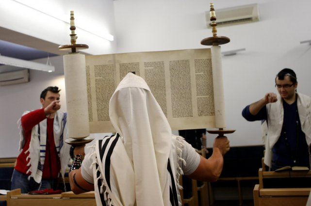 Dans une synagogue de Budapest.... (Photo AFP)