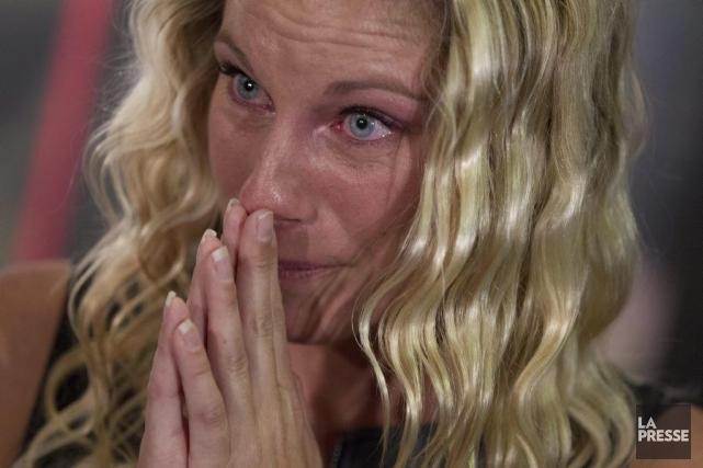 Émilie Heymans a annoncé sa retraite avec émotion,... (Photo Ivanoh Demers, La Presse)