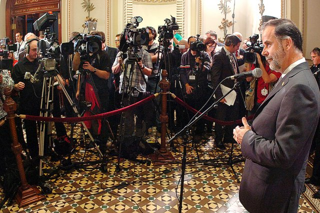 Le ministre Pierre Duchesne n'a pas écarté mercredi... (Photothèque Le Soleil, Jean-Marie Villeneuve)