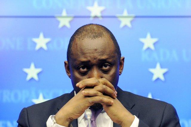 Invité à Bruxelles, le ministre malien, Tieman Coulibaly,... (PHOTO JOHN THYS, AFP)