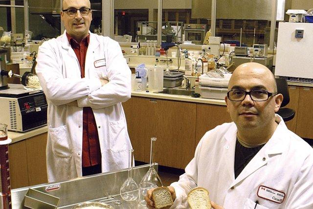 Sébastien Villeneuve, à gauche, et Martin Mondor, à... (Photo fournie par Agriculture et Agroalimentaire Canada)