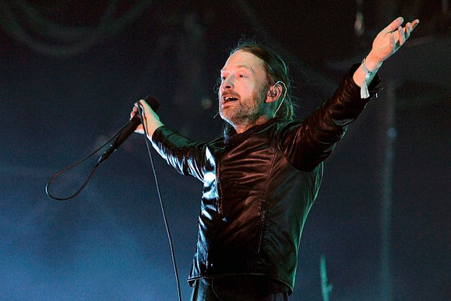 Thom Yorke, chanteur du supergroupe Atoms for Peace...