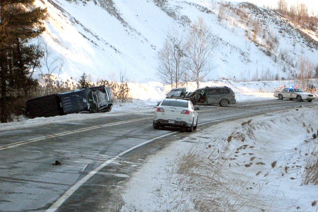 Une collision frontale est survenue entre deux automobiles... (Collaboration spéciale, Ian Bussières)