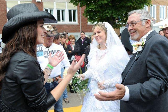Les mariés de l'an dernier, Nathalie Normandin et... (Photo: Stéphane Lessard)