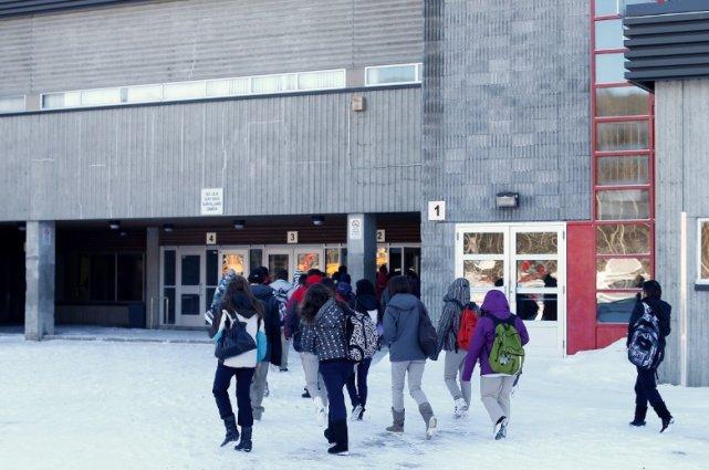 L'école secondaire Le Sommet, à Charlesbourg... (Le Soleil, Yan Doublet)