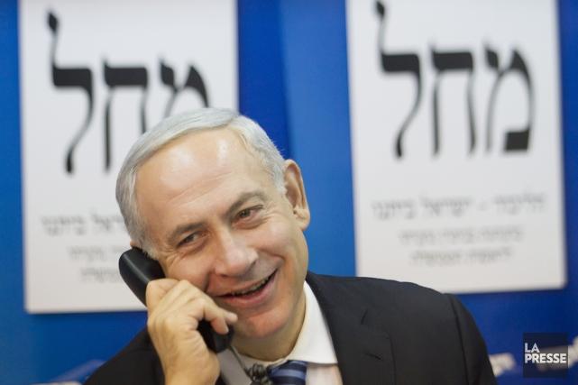Le premier ministre israélien Benyamin Nétanyahou.... (PHOTO ARIEL SCHALIT, AP)