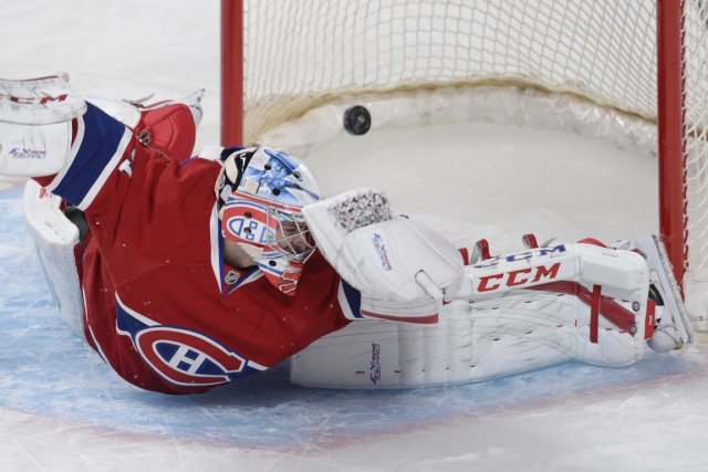 Carey Price a dû rater l'entraînement d'hier en... (Photo : Bernard Brault, La Presse)