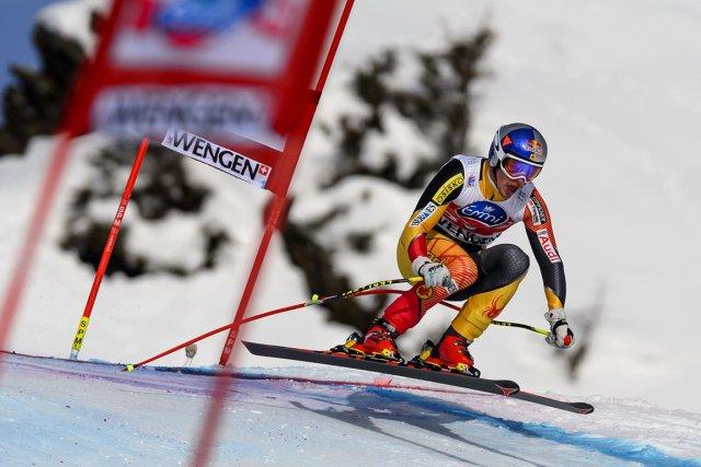 Troisième à Val Gardena avant Noël, Érik Guay... (Photo : Fabrice Coffrini, AFP)