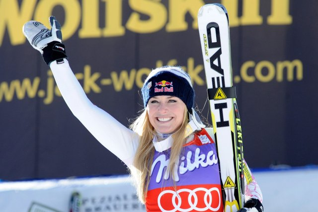 Lindsey Vonn... (Photo Giovanni Auletta, AP)