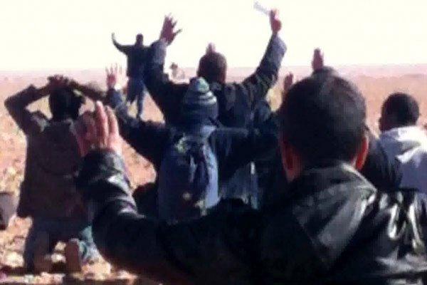 Une image de ta télévision algérienne montre les...