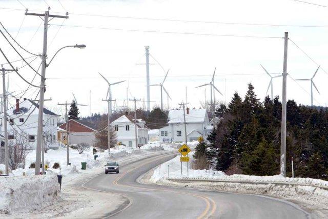 Un projet éolien entraîne parfois des conflits au... (Photothèque La Presse, Sébastien Aubert)