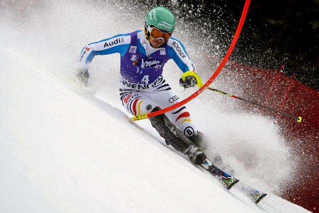 Felix Neureuther signe son deuxième succès cette saison.... (Photo : Fabrice Coffrini, AFP)