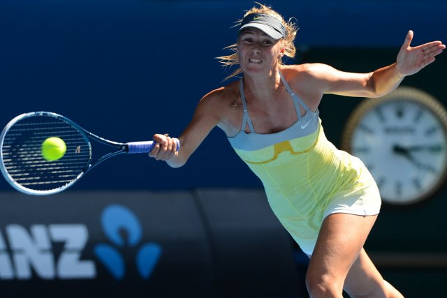 Maria Sharapova n'a perdu que cinq jeux en... (Photo William West, AFP)