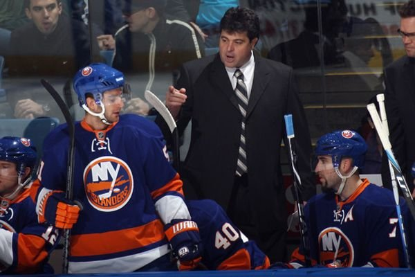 L'entraîneur-chef des Islanders de New York, Jack Capuano.... (Photo: Getty)