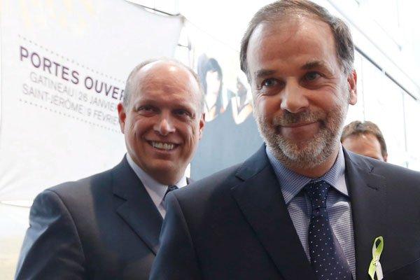De passage dans la région samedi, le ministre... (Simon Séguin-Bertrand, LeDroit)