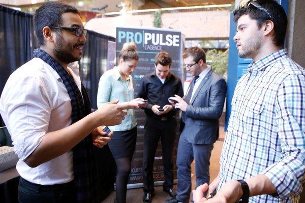 Pour de jeunes entreprises, la visibilité offerte par... (Simon Séguin-Bertrand, LeDroit)