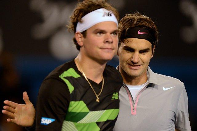 Le Suisse Roger Federer (à droite) a donné... (Photo: AFP)