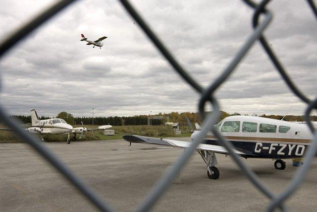 Les terrains de l'aéroport municipal de Mascouche semblent... (Photo: Alain Roberge, archives La Presse)