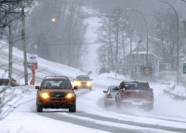 Les conditions routières ot été rendues difficiles en... (Photo Michel Tremblay)