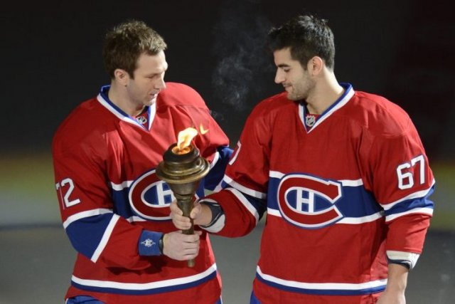 Érik Cole et Max Pacioretty... (Photo Bernard Brault, La Presse)