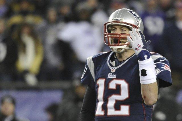 Tom Brady, après une passe qui n'est pas... (Photo AP)