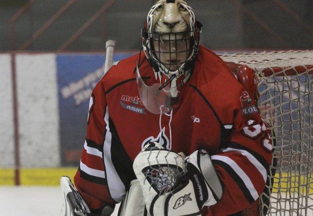 Le gardien de l'Avalanche bantam AA, Dorian ... (photo Alain Dion)